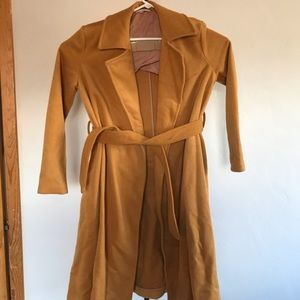 Free People Womens XS Wool Blend  Maxi Trench Coat